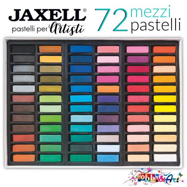 72 mezzi pastelli secchi per artisti Jaxell