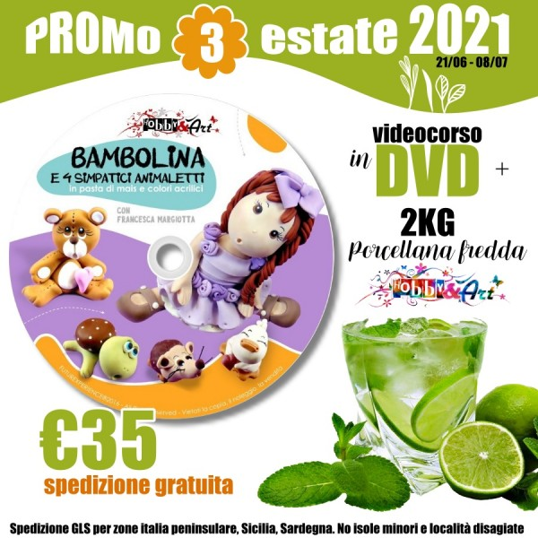 PROMO 3 EST21 - DVD Bamboline + 2Kg Porcellana - Spedizione Gratuita