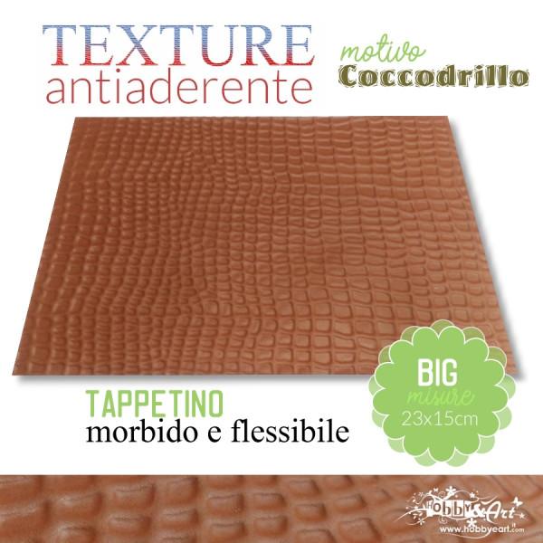 Tappeto antiaderente texture motivo COCCODRILLO