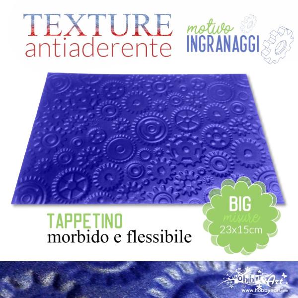 Tappeto antiaderente texture motivo INGRANAGGI