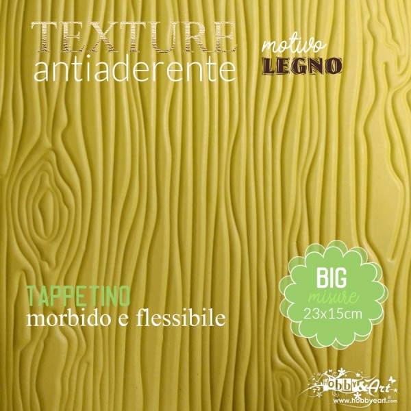 Tappeto antiaderente texture motivo LEGNO