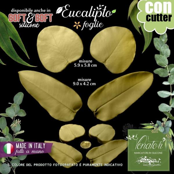 Venatore in silicone Eucalipto set 2 foglie + Cutter - ITA