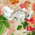 Cutter con espulsore - Farfalla 3 pz