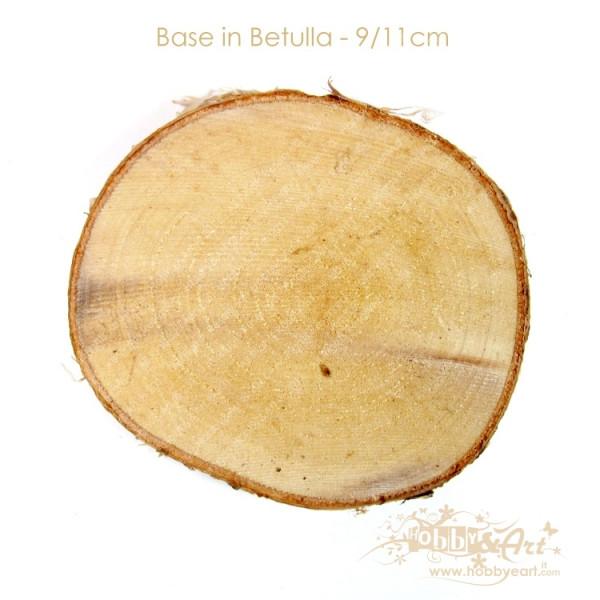Base in legno di betulla, sezione 9-11cm
