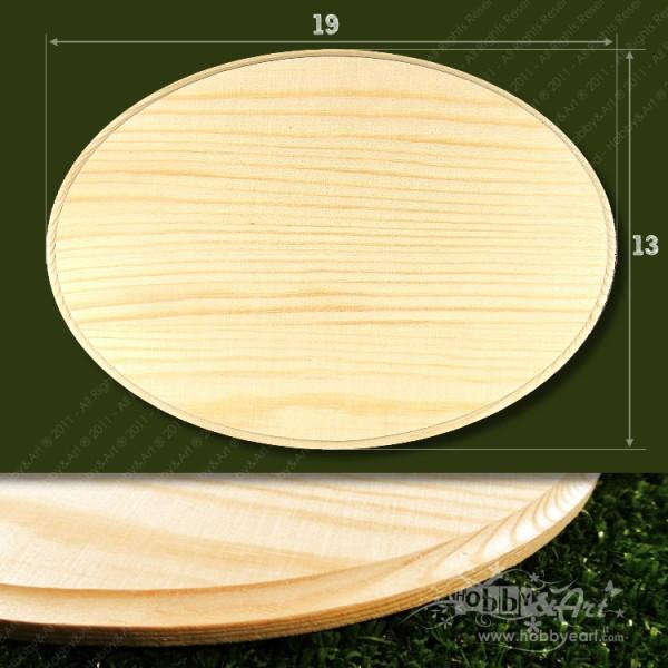 Base supporto in legno ovale 19x13cm