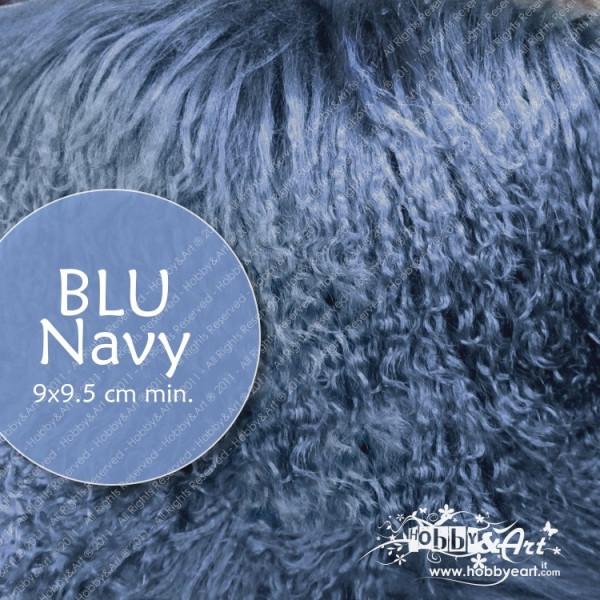 Capelli in lana tibetana - Navy Blu