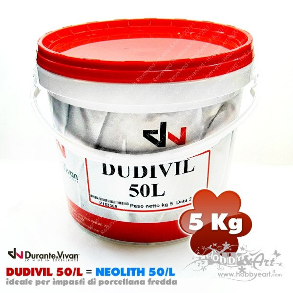 Colla DUDIVIL 50L (Neolith 50/L) porcellana fredda 5Kg