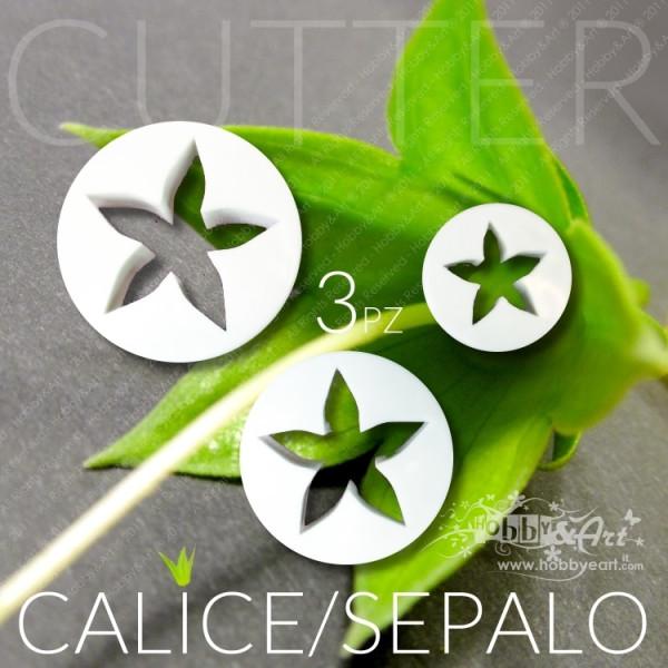 Cutter calice sepali 3 misure