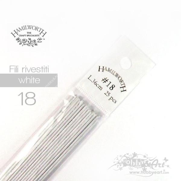Fili Bianchi rivestiti #18 x 36cm - 25pz - Hamilworth