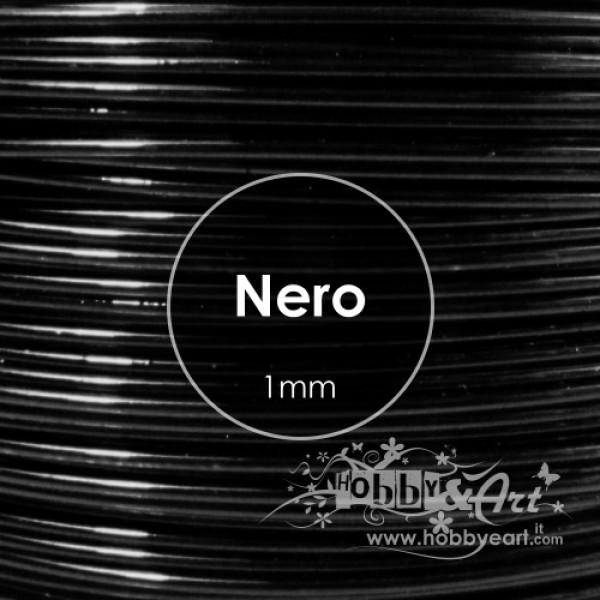 Filo Alluminio cotto 1mm - NERO