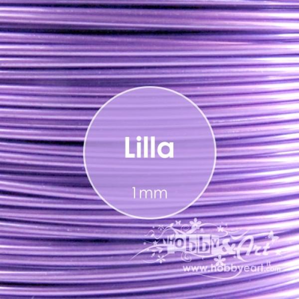 Filo alluminio cotto 1mm - LILLA