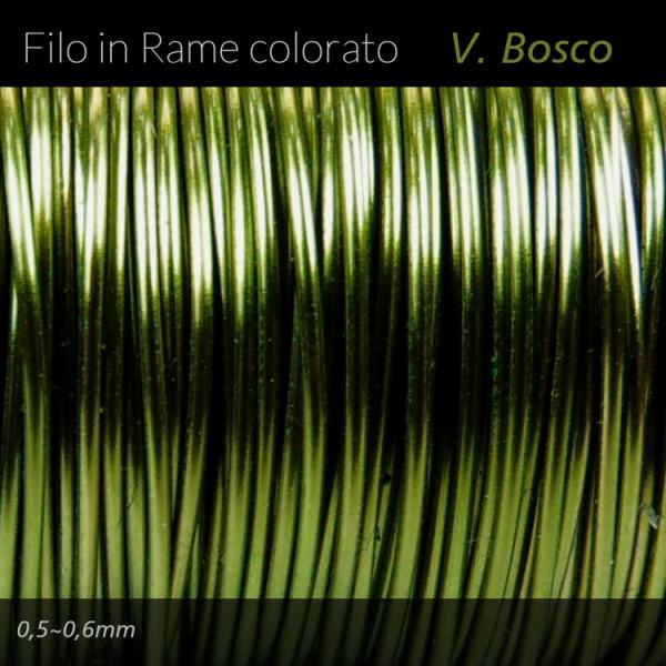 Filo di rame colorato - Verde Bosco