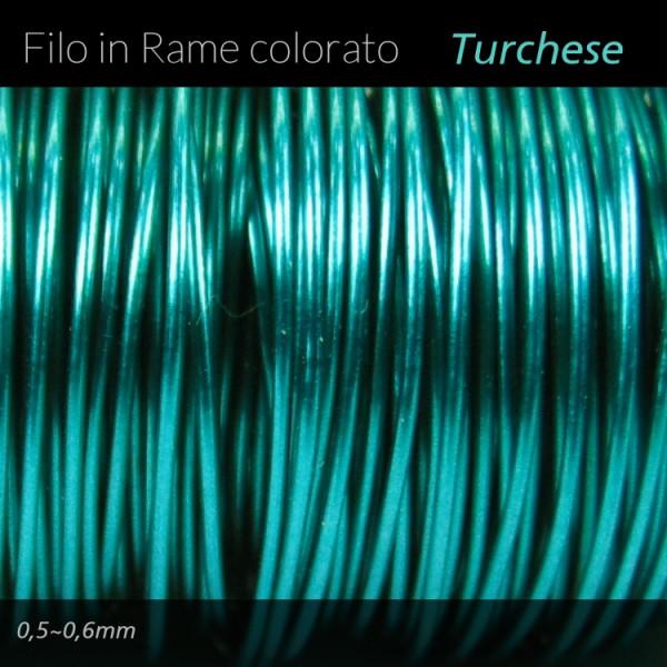 Filo di rame colorato - Turchese