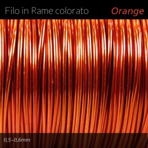 Filo di rame colorato - Orange