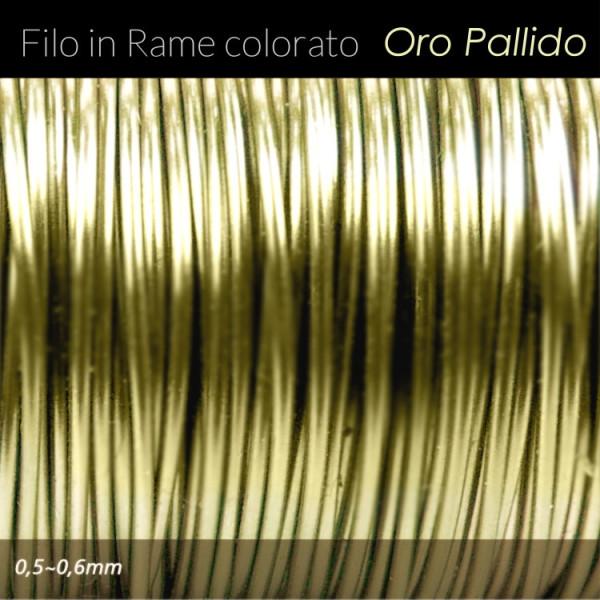 Filo di rame colorato - Oro Pallido