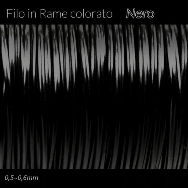 Filo di rame colorato - Nero