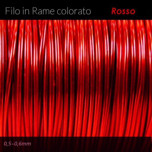 Filo di rame colorato - Rosso