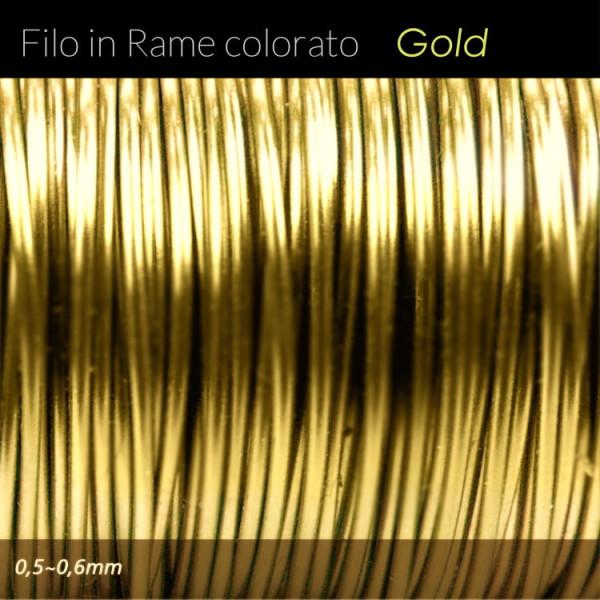 Filo di rame colorato - Gold