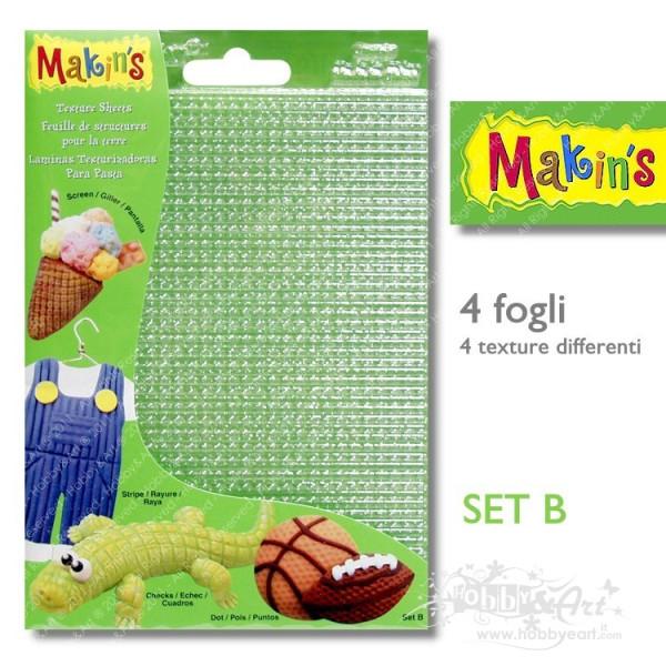 Fogli per texture 4 pezzi - Makin's Set B