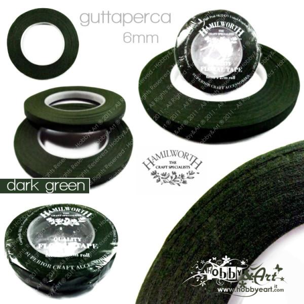 Guttaperga Hamilworth per fiori 6mm x 27mt - Dark Green