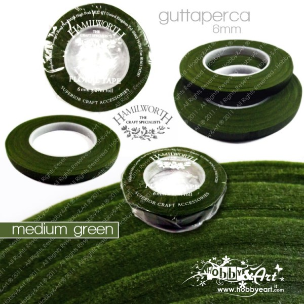 Guttaperga Hamilworth per fiori 6mm x 27mt - Medium Green