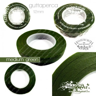 Guttaperga Hamilworth per fiori 12mm x 27mt - Medium Green