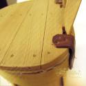 Cesto in legno a mezzaluna con coperchio