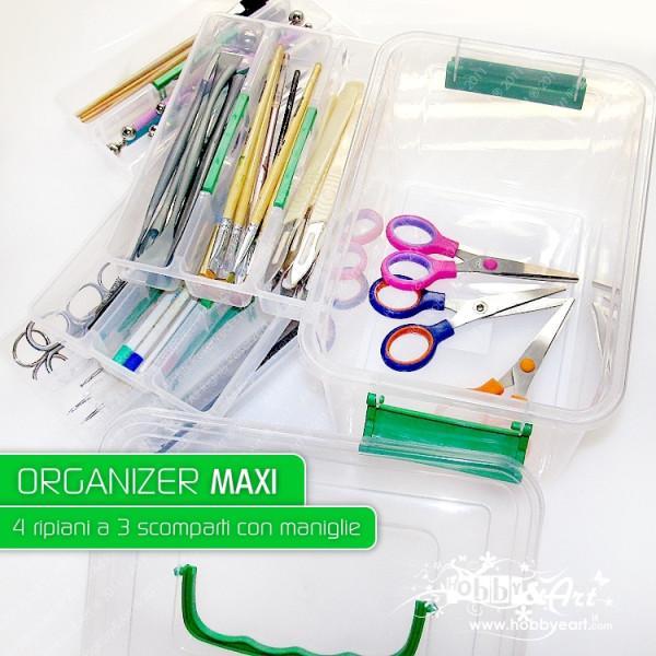 Organizer Maxi - 4 ripiani, 12 scomparti