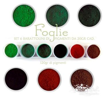 Pigmenti in polvere - Set Foglie