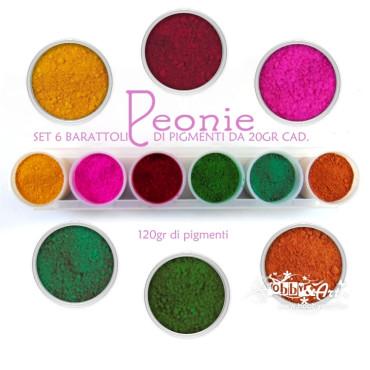Pigmenti in polvere - Set Peonia
