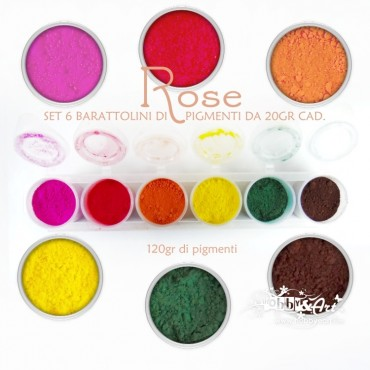 Pigmenti in polvere - Set Rosa