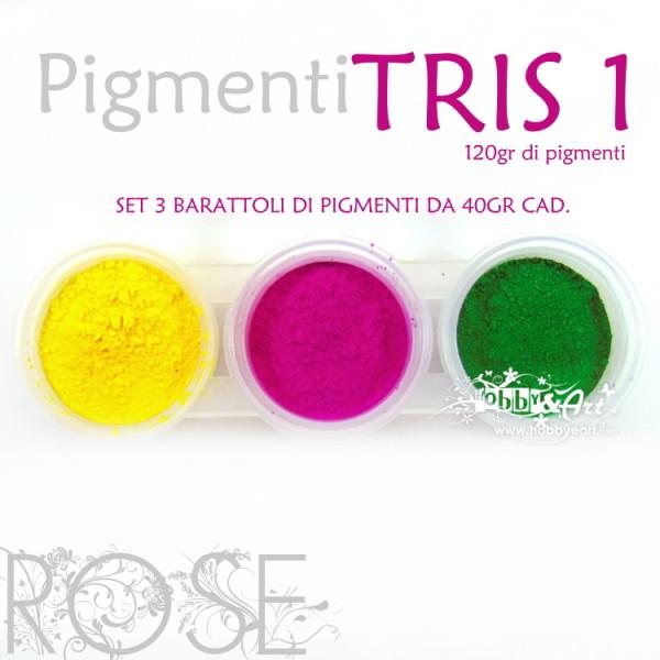 Pigmenti in polvere, 3 colori - Set #1