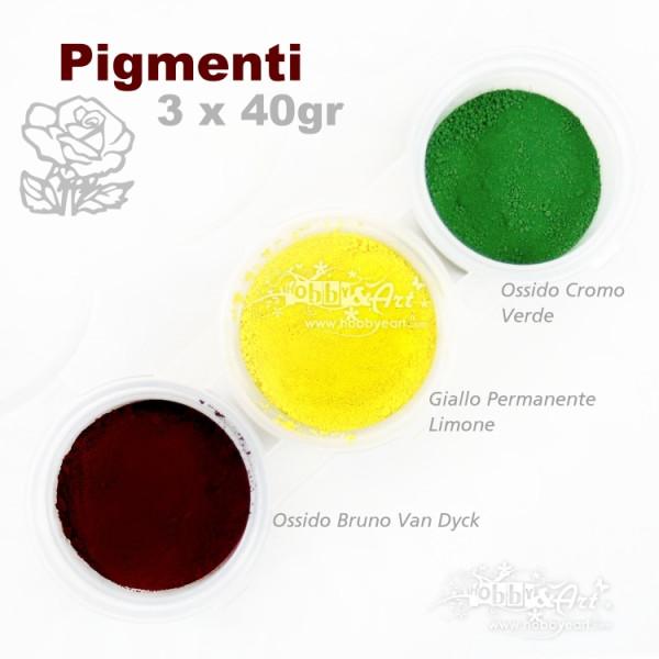 Pigmenti in polvere, 3 colori - Set #3