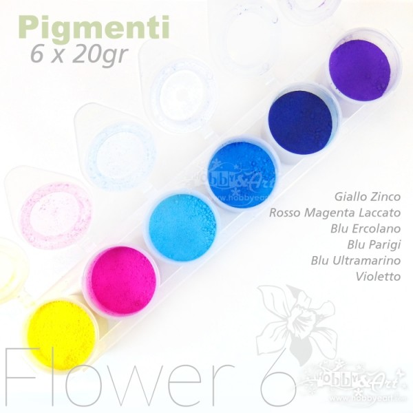Pigmenti in polvere - Set Flower 6