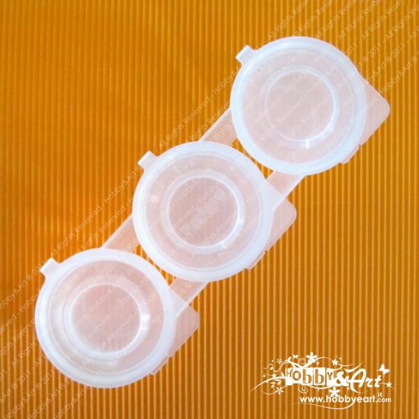 Set 3 contenitori 75ml con coperchio