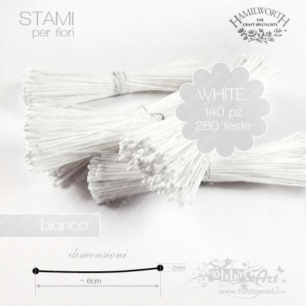 Stami Hamilworth - Bianco 1mm - 140pz