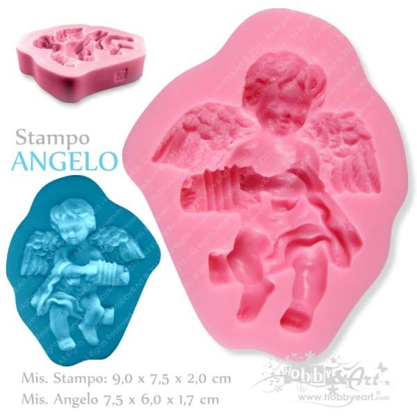 Stampo in silicone - Angelo con fisarmonica