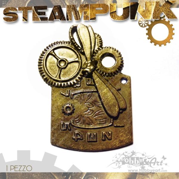 Steampunk CLOCK 1 in metallo col. Bronzo