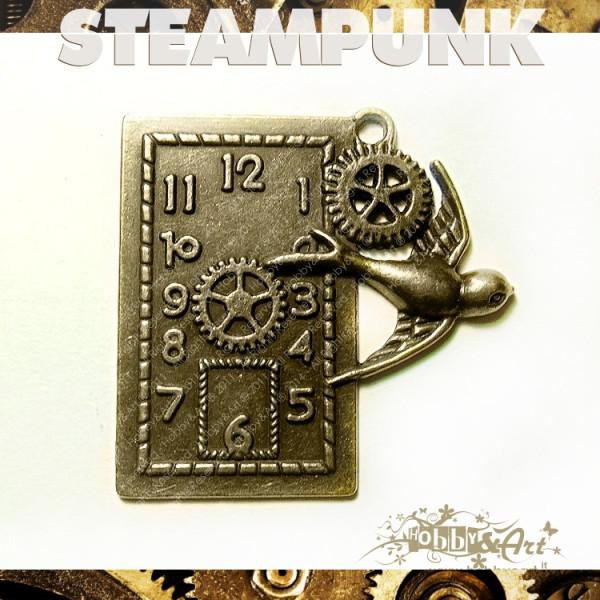 Steampunk CLOCK 3 in metallo col. Bronzo