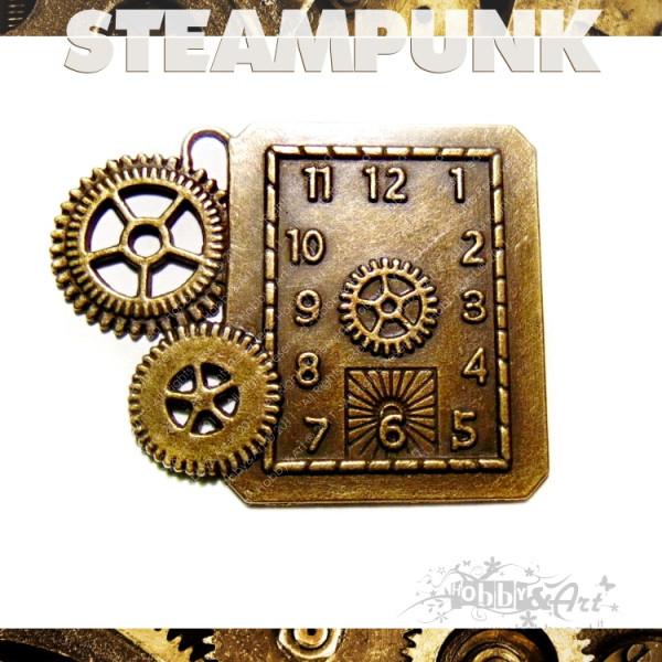 Steampunk CLOCK 6 in metallo col. Bronzo