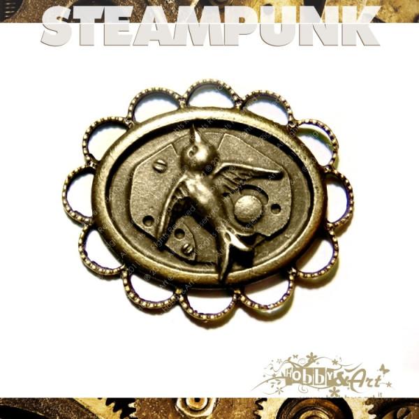 Steampunk Rondine in metallo col. Bronzo