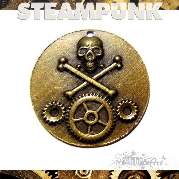 Steampunk Skull in metallo col. Bronzo