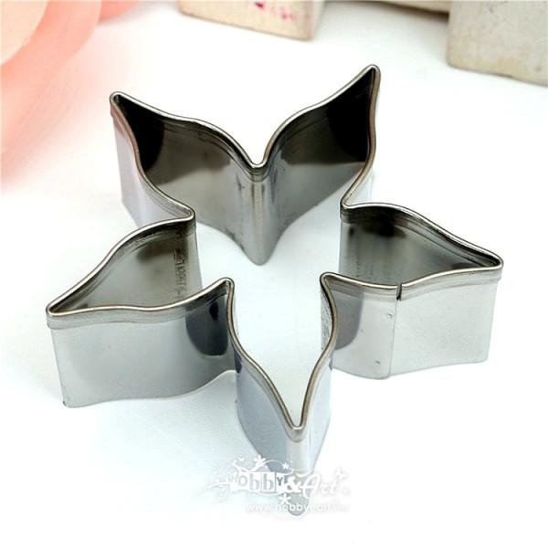 Cutter in acciaio sepali di Rosa, diametro 4,5 cm