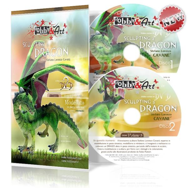 DVD OOAK 5 - DRAGO Alato in pasta sintetica - 2 DVD