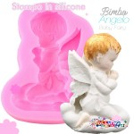 Stampo in silicone - Bimbo Angelo in ginocchio
