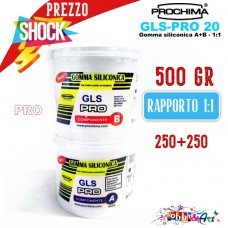 Gomma Siliconica GLS-PRO 20 A+B 500gr