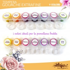 Tempera Extrafine Gouache - 7 colori Kit3