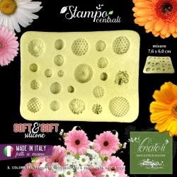 Stampo in silicone centrali assortiti Fiori 76x60mm