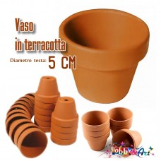 Vaso in terracotta - Diametro 5cm