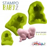 Stampo in silicone - Neonato Baby 2